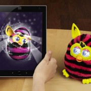 Furby Boom - Straight Stripes (with iPad)