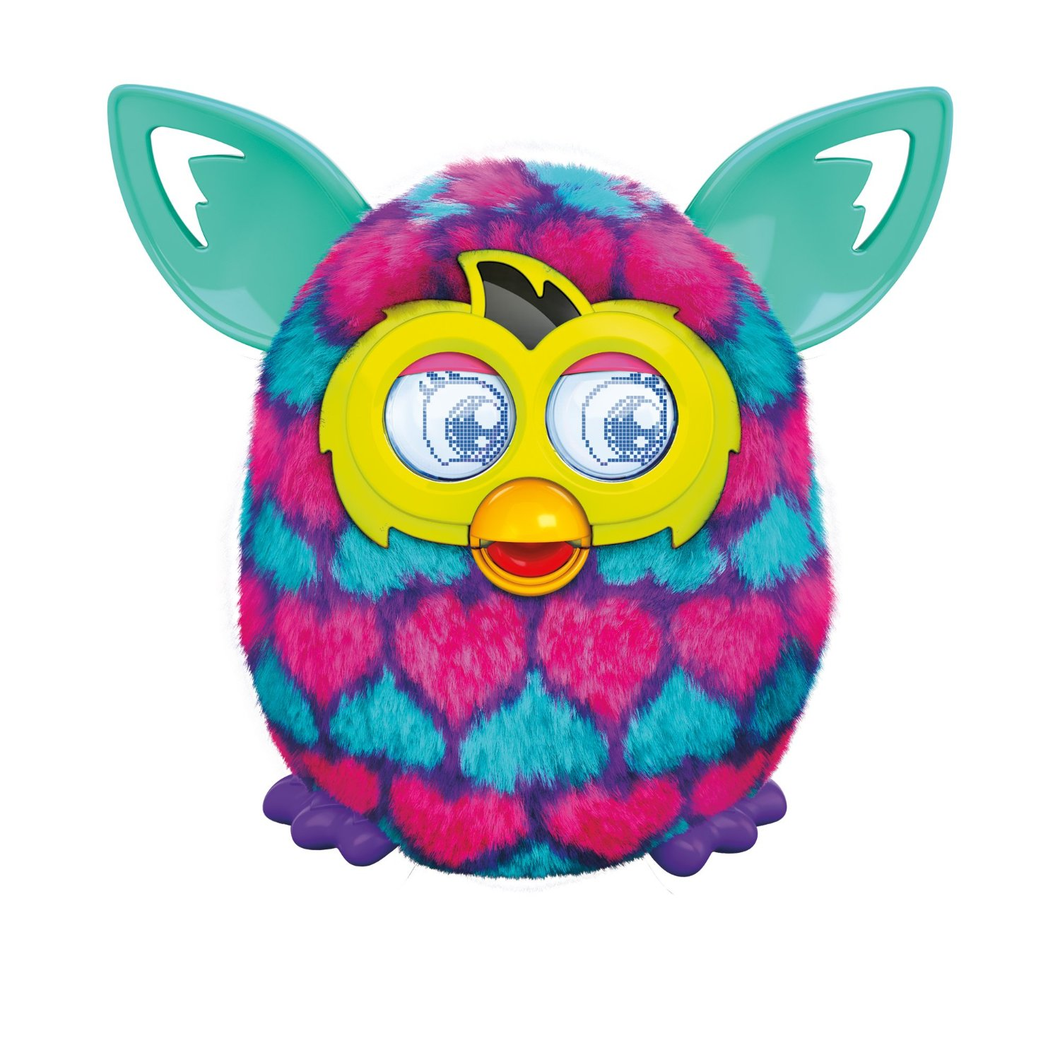 furby boom pink and blue hearts furbyme