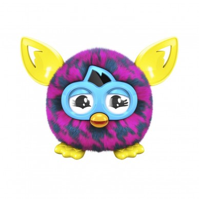 Furby Furbling  - Pink and Blue Houndstooth